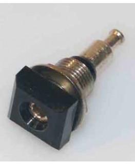 Buchse ø2mm, Gelb, isoliert, quadratisch