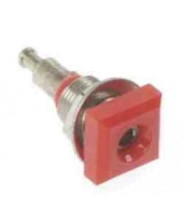 Buchse ø2mm, Rot, isoliert, quadratisch