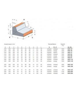 Pult-Gehäuse schwarz-orange 216 x 220 x 128 x 40 mm