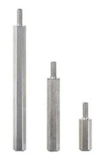 Abstandsbolzen M3x30, Stahl glanzverzinkt, SW6