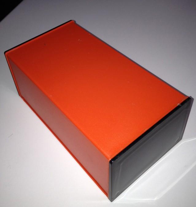 Kunststoffgehäuse, WALL4, Orange, 170 x 99.5 x 74 mm