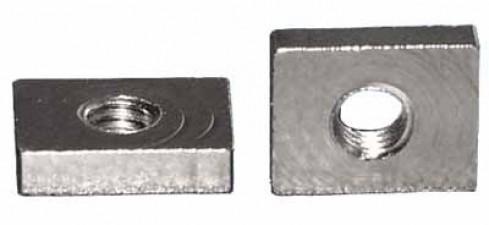 Flachmutter 1 x M2.6 Stahl