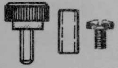 Montagesätze (2 Rändelschrauben M3 + 2 Hülsen und 2 Schrauben M3 x 8 mm
