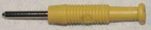 Stecker Gelb, Ø 2mm, biegsame Hülse