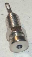 Buchse ø2mm, Messing vernickelt