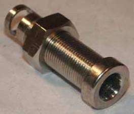 Buchse ø7mm, Messing vernickelt