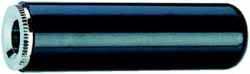 Kabelkupplung 3.5mm, 2-polig, schwarz