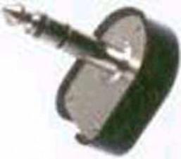 Klinkenstecker L=43mm, schwarz