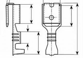 Steckverteiler 4.8 x 0.8mm,  Messing verzinnt