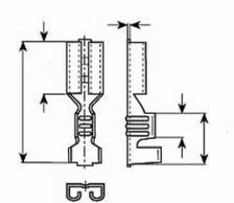 Flachsteckhülse 2.8 x 0.8mm, Messing blank