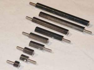 Abstandsbolzen M2x25, Stahl
