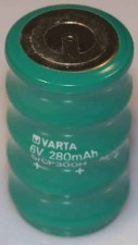 "Nickel-Kadmium Batterien ""Varta"" 25.8 x 45.5 mm"