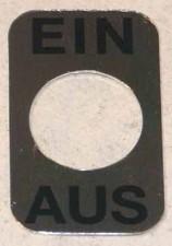 Schilder EIN-AUS