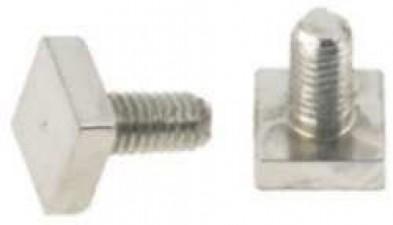 Halsschraube, M3, Stahl vernickelt