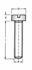 Flachkopfschraube Pan-Head, mit Schlitz, M3 x 6mm