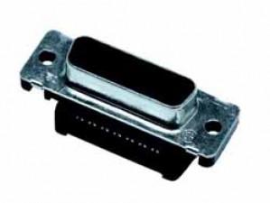 HD-Steckverbinder, Buchse 15-polig mit Lötkelch