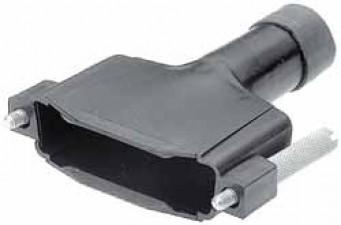 Steckerendgehäuse für D-Sub-Stecker, schrumpfbar, 15 polig