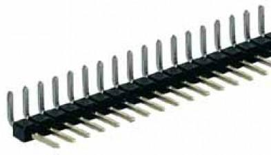 Stiftleiste 10-polig, für Parallelmontage, abgewinkelt