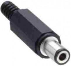 Netzgerätestecker; D:6.3mm; d:3.1mm