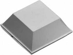 Gerätefuss selbstklebend, Quadrat 12,7 x 5.8 mm