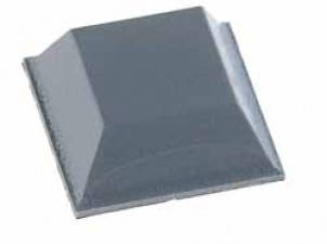 Gerätefuss selbstklebend, Quadrat 20.6 x 7.6 mm