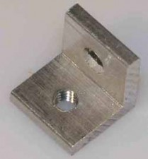 Montagewinkel M3x10x10x2 mm, Aluminium