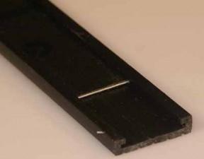 Bezeichnungsstreifen mit Formikastreifen, Länge 1m, Breite 15mm