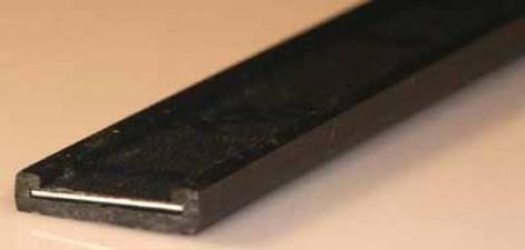 Bezeichnungsstreifen mit Formikastreifen, Länge 1m, Breite 30 mm