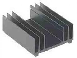 Kühlkörper Länge 75 mm, schwarz eloxiert