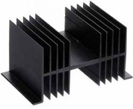 Kühlkörper, 75mm lang, schwarz eloxiert