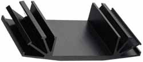 Kühlkörper Länge 50 mm, schwarz eloxiert