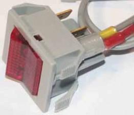 Wippschalter - Ausschalter, 10AMP / 250V /  2-polig mit Neonlampe 220V