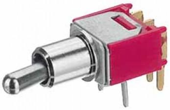 Ultraminiatur - Kippschalter, für Printmontage, 1-polig