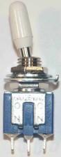 Miniatur - Kippschalter, Umschalter, 1-polig, weiss