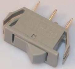 Wippschalter - Ausschalter, 10AMP /  250V /  1-polig, Impuls, grau.