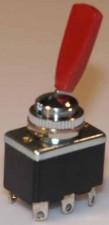 Kippschalter - Umschalter, 6 AMP  / 250 V  /  rot, 6-polig.