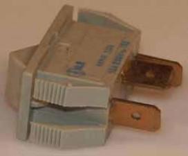 Wippschalter - Umschalter, 10 AMP /  250 V  /  1-polig, Impuls, grau