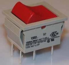 Wippschalter, Ausschalter, 10AMP /  250V / 2-polig.