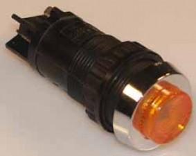 Leuchttaste, 1x Schliesser, 250V, 1-polig, Gelb
