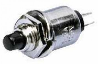 Schliesser, Knopf schwarz, 0.5 Amp. 125 V, 1- polig