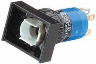 Leuchtdrucktasten, rechteckig, 24 x 18 mm,  Impulsfunktion.