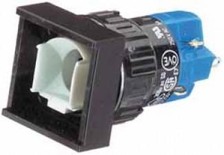 Leuchtdrucktasten, viereckig, 18 x 18 mm , Impulsfunktion.