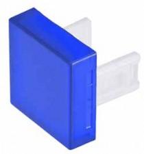 Kalotten, viereckig, 18 x 18, blau.