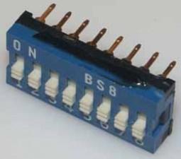 Dual-in-Line-Schalter 8-polig.
