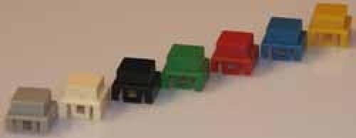 Knöpfe Rot, 10x10mm, quadratisch