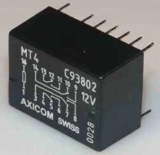 Miniaturrelais, für Schwachstrom, Dual I  Line, 12 VDC, 480 Ohm