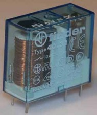 Printrelais 17,7-36V, 1 Umschaltkontakt, 10A / 250 V AC, AA 5.0 mm