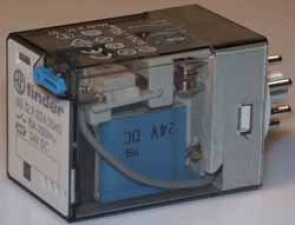 Relais 24 V AC, Steckbar, 8 polig