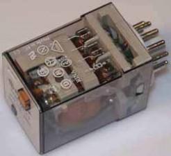 Relais 12 V AC, Steckbar, 11 polig
