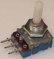 Kohlenpotentiometer PP 12, 4mm Kunststoff-Achse log. 100 k Ohm